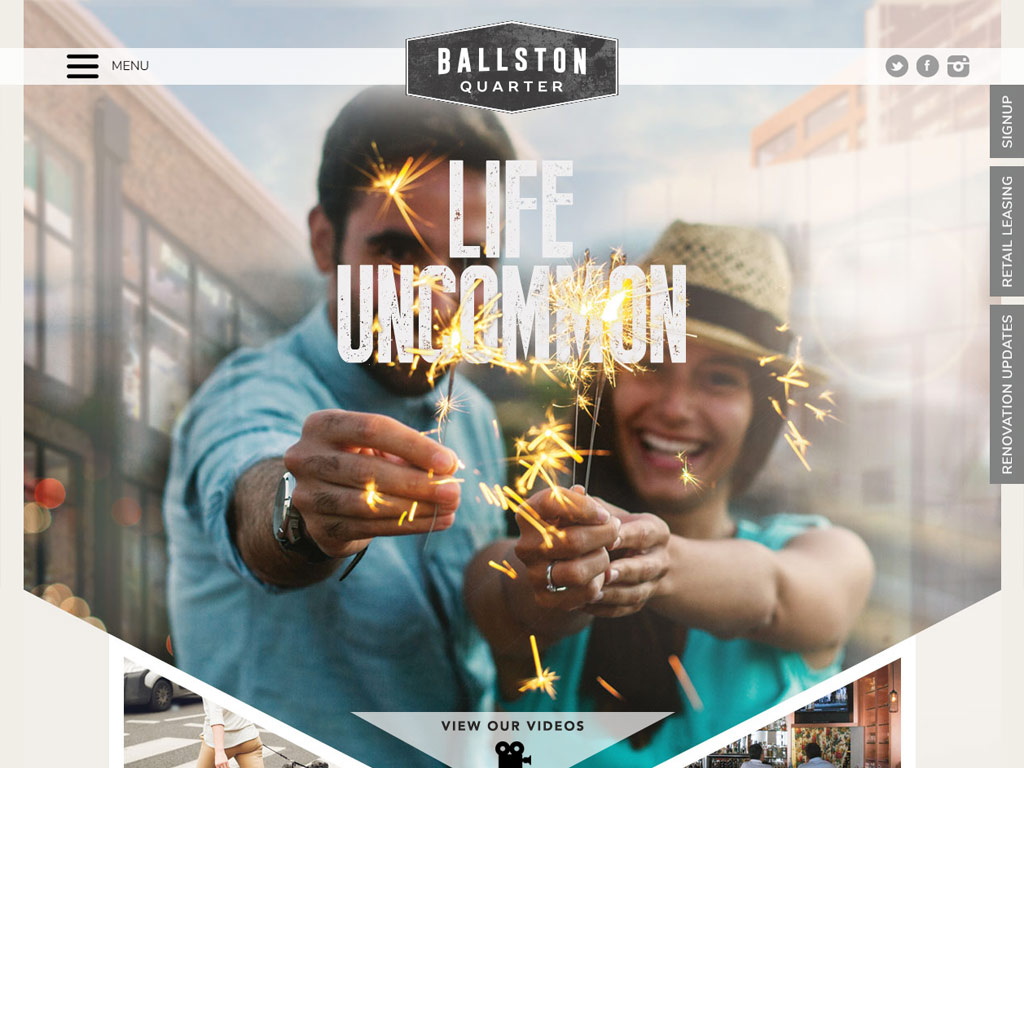 Ballston Quarter website screenshot
