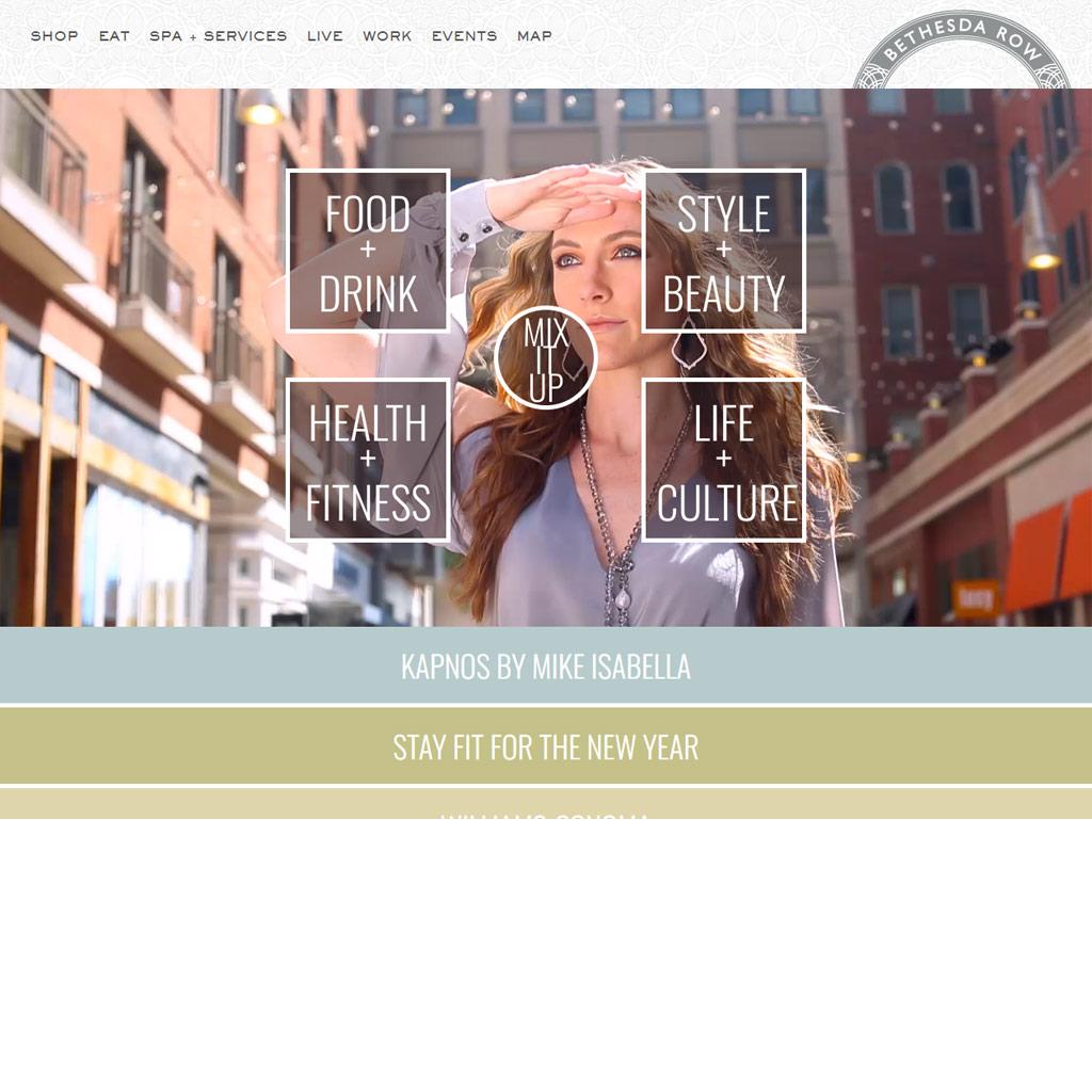 Bethesda Row website screenshot