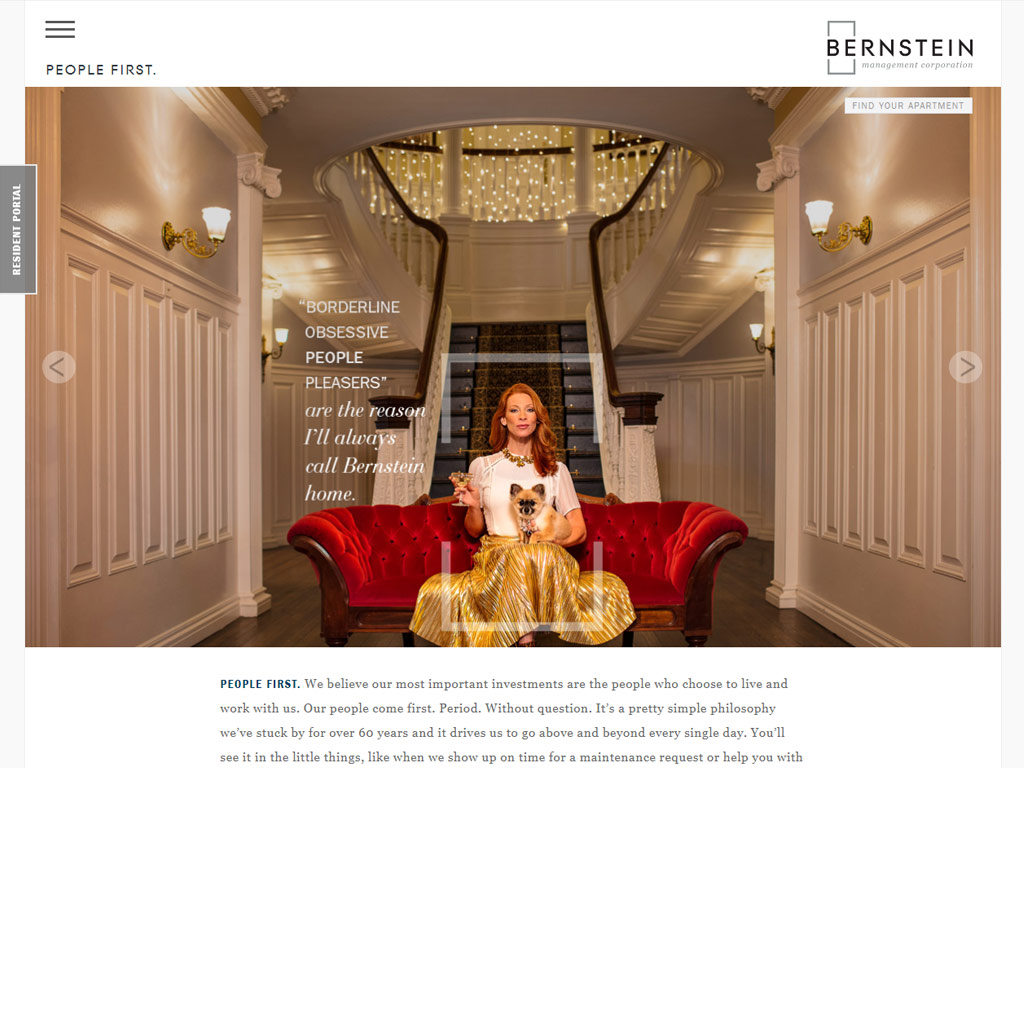 Bernstein Management Corporation website screenshot