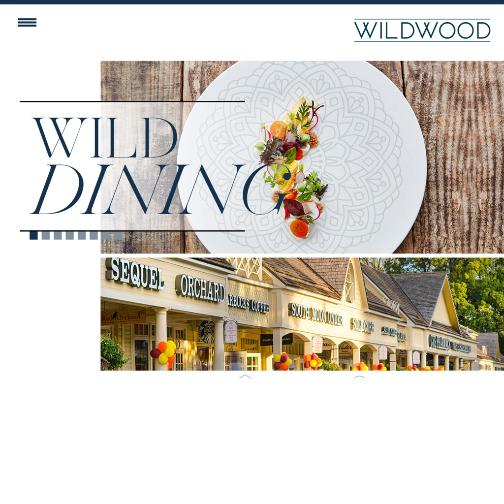 Shops at Wildwood website screenshot