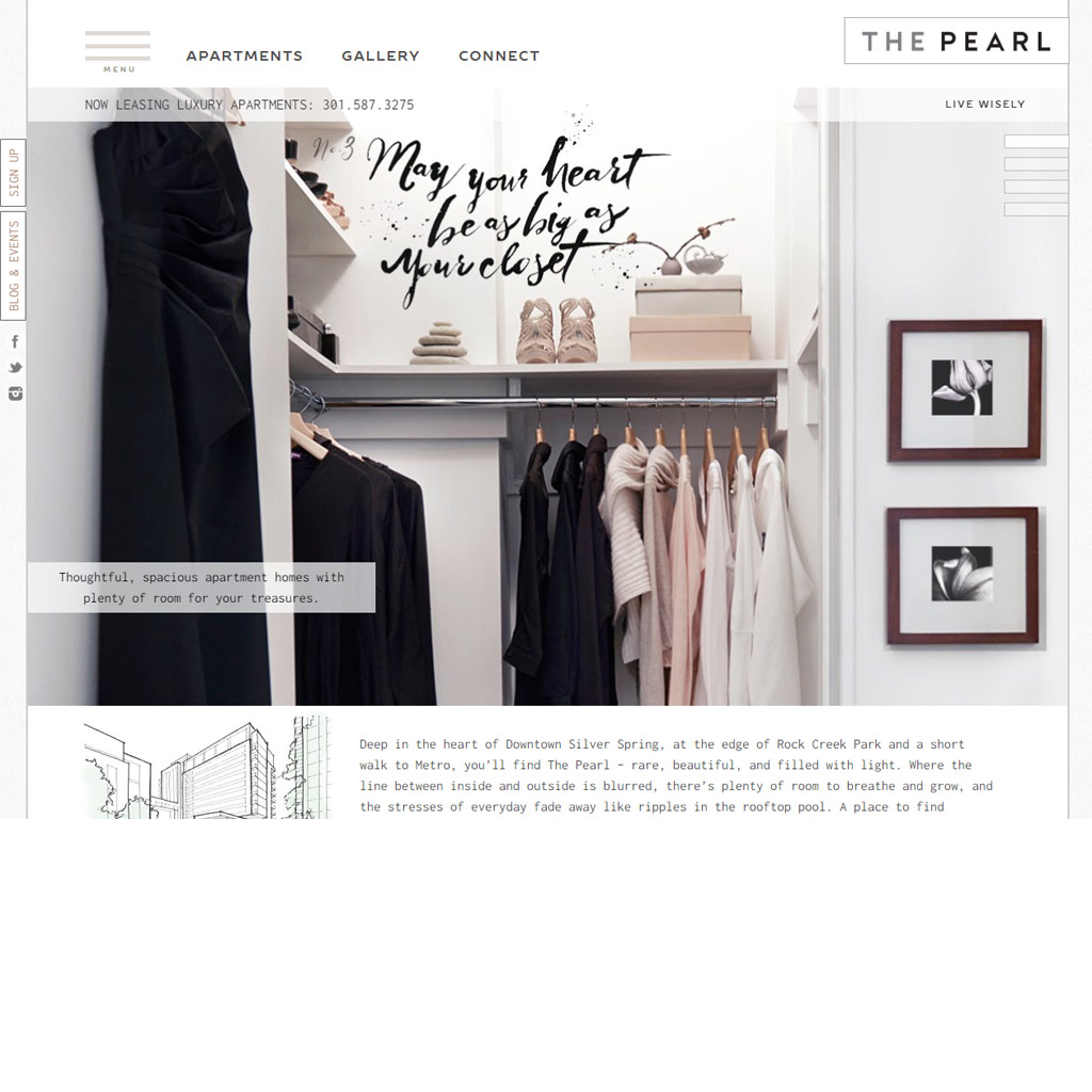 The Pearl website screenshot