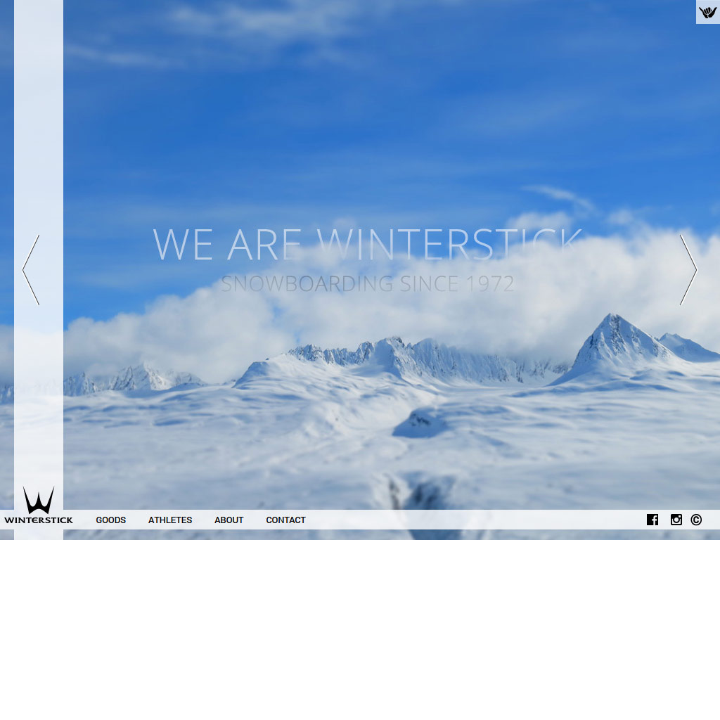 Winterstick Snowboards website screenshot