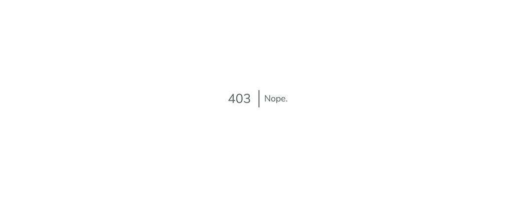 Laravel 403 | Nope.