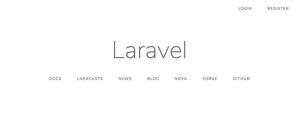 Laravel default page