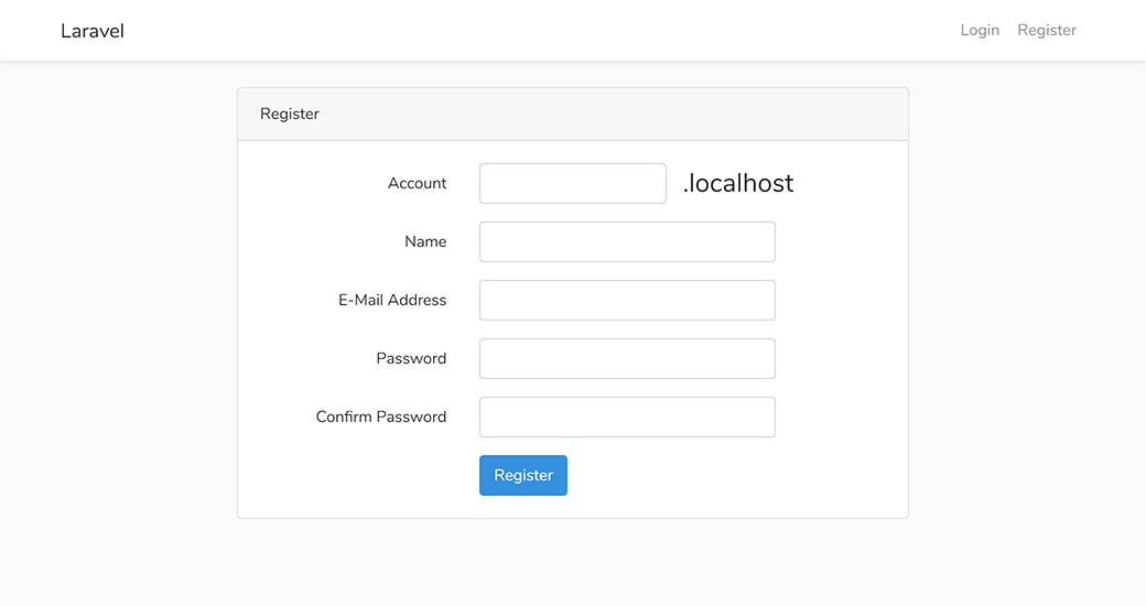 Laravel new registration with account