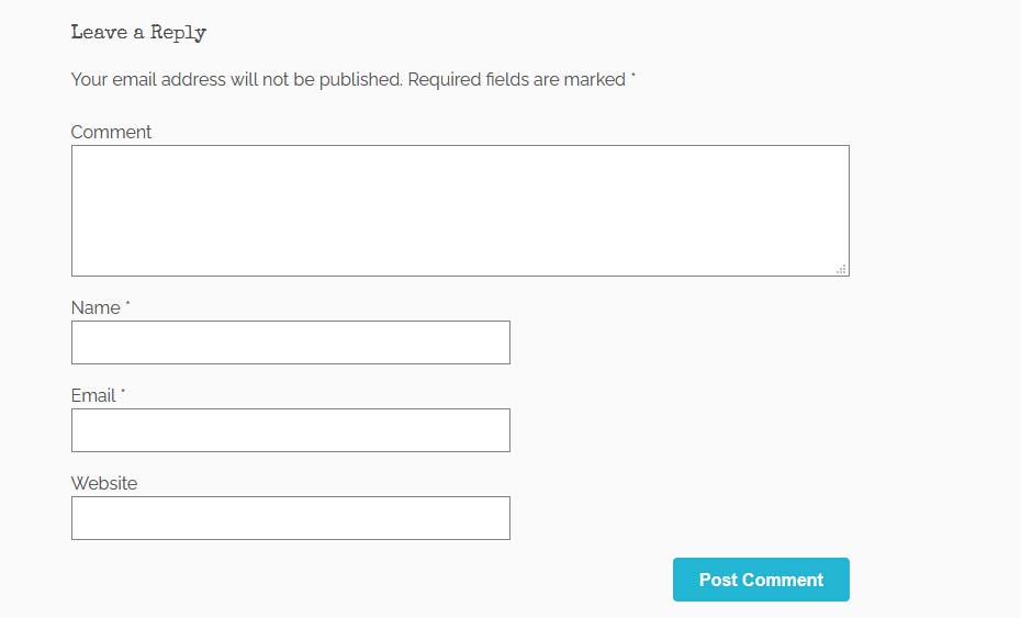 Wordpress comment fields with hidden honeypot values